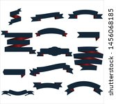 navy blue and red ribbon set... | Shutterstock .eps vector #1456068185