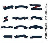 navy blue and red ribbon set... | Shutterstock .eps vector #1456068212
