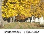 Cemetery In Autumn  Vt