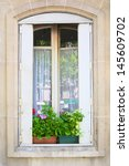 traditional window whith...   Shutterstock . vector #145609702