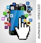 universal design mobile phone... | Shutterstock . vector #145611325