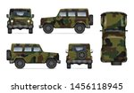 Army Truck Isolated Vector...