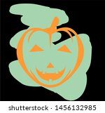 halloween day celebration with... | Shutterstock .eps vector #1456132985
