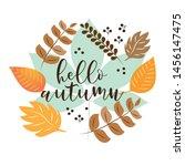 Hello Autumn Text  With...