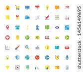 miscellaneous icon set flat 32... | Shutterstock .eps vector #1456149695