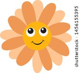 flower with eyes  illustration  ... | Shutterstock .eps vector #1456155395