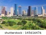 houston skyline in the...   Shutterstock . vector #145616476