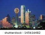 Dallas  Tx Skyline At Night