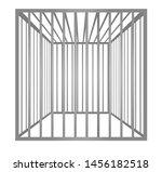 Cage Metal Bars. Vector...