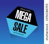 black and blue mega sale banner ... | Shutterstock .eps vector #1456186592