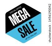 black and blue mega sale banner ... | Shutterstock .eps vector #1456190042
