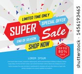 super sale special up to 80 ... | Shutterstock .eps vector #1456193465