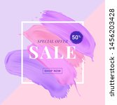 vector sale banner with text on ... | Shutterstock .eps vector #1456203428