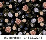 Seamless Joint Flower Digital...
