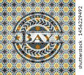 bay arabesque emblem. arabic... | Shutterstock .eps vector #1456229492