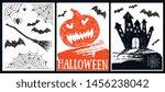 halloween symbols hand drawn... | Shutterstock .eps vector #1456238042