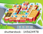 a vector illustration of map of ... | Shutterstock .eps vector #145624978