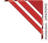 set of red corner ribbon... | Shutterstock .eps vector #1456253942