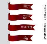 shiny ribbon promotional... | Shutterstock .eps vector #145628212