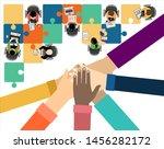 flat design illustration... | Shutterstock . vector #1456282172