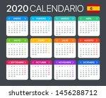 2020 calendar   spanish version ... | Shutterstock .eps vector #1456288712