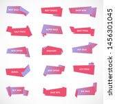 vector stickers  price tag ... | Shutterstock .eps vector #1456301045