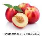 Three Ripe Peach  Nectarine ...