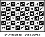 vector background icons dog... | Shutterstock .eps vector #145630966