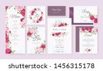 wedding card set template with... | Shutterstock .eps vector #1456315178