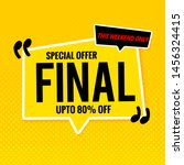 special offer  template.yellow...   Shutterstock .eps vector #1456324415