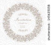 elegant vintage frame with... | Shutterstock .eps vector #145635058