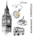 london illustration set | Shutterstock .eps vector #145635112