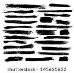 set of grunge brush strokes | Shutterstock .eps vector #145635622