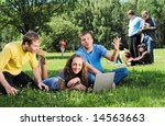 group of young men and women... | Shutterstock . vector #14563663