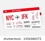 modern and realistic airline... | Shutterstock .eps vector #1456386572