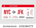 Modern and realistic airline ticket design with flight time and passenger name. vector illustration.