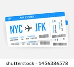 modern and realistic airline... | Shutterstock .eps vector #1456386578