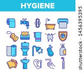hygiene  cleaning thin line... | Shutterstock . vector #1456395395