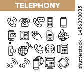 global telephony system linear... | Shutterstock . vector #1456398035
