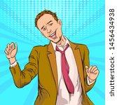 pop art man excited.retro...   Shutterstock .eps vector #1456434938