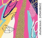creative doodle art header with ...   Shutterstock .eps vector #1456438652