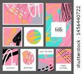 set of creative universal... | Shutterstock .eps vector #1456440722