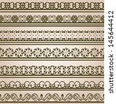 set of vintage borders. | Shutterstock .eps vector #145644412