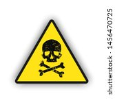 toxic warning yellow sign icon... | Shutterstock .eps vector #1456470725