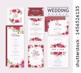wedding invitation card with... | Shutterstock .eps vector #1456526135