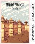 Madhya Pradesh Retro Poster....