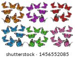 A Large Set Of Butterflies In...