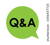 q   a sign   question and... | Shutterstock .eps vector #1456557725