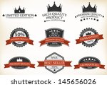 premium quality and guarantee... | Shutterstock .eps vector #145656026