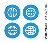 set of world wide for web... | Shutterstock .eps vector #1456574408
